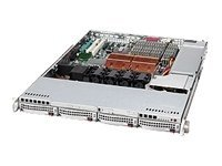 Supermicro Chassis, 1U Rackmount 815TQ, Dual Xeon, 4 Bays, Slim DVD, 700W PS, Black, CSE-815TQ-700B, 7406231, Cases - Systems/Servers