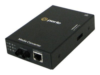 Perle S110-M2ST2 Media Converter 10 100TX 100BFX MM 2KM 1310NM 2XST, 05050404, 12730377, Network Transceivers