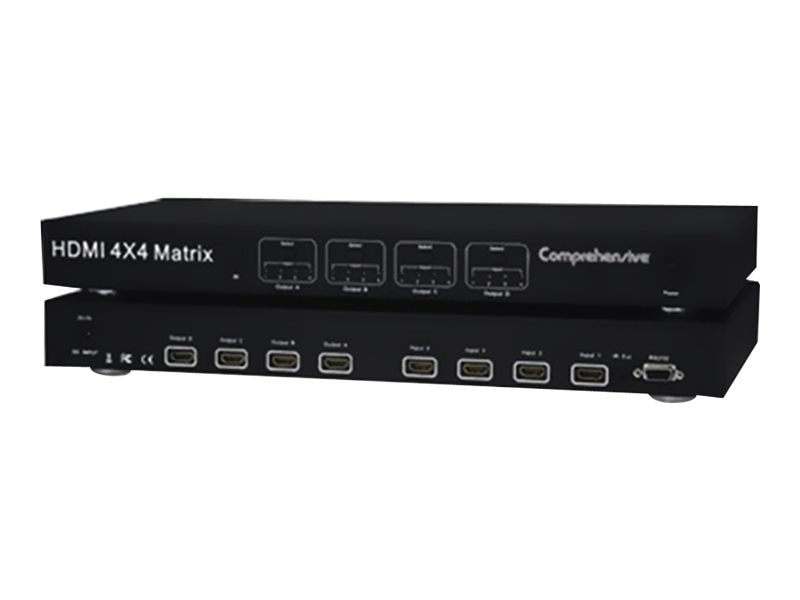 Comprehensive HDMI 4x4 True Matrix Switcher Splitter v1.3b with RS232