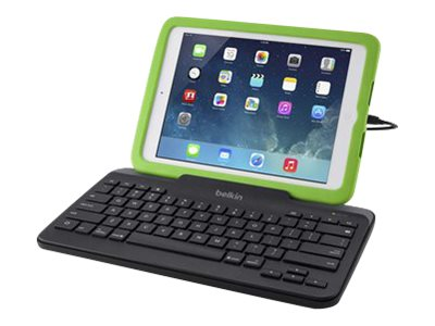 Belkin Wired Tablet Keyboard w  Stand, Lightning Connector for iPad, Black, B2B130