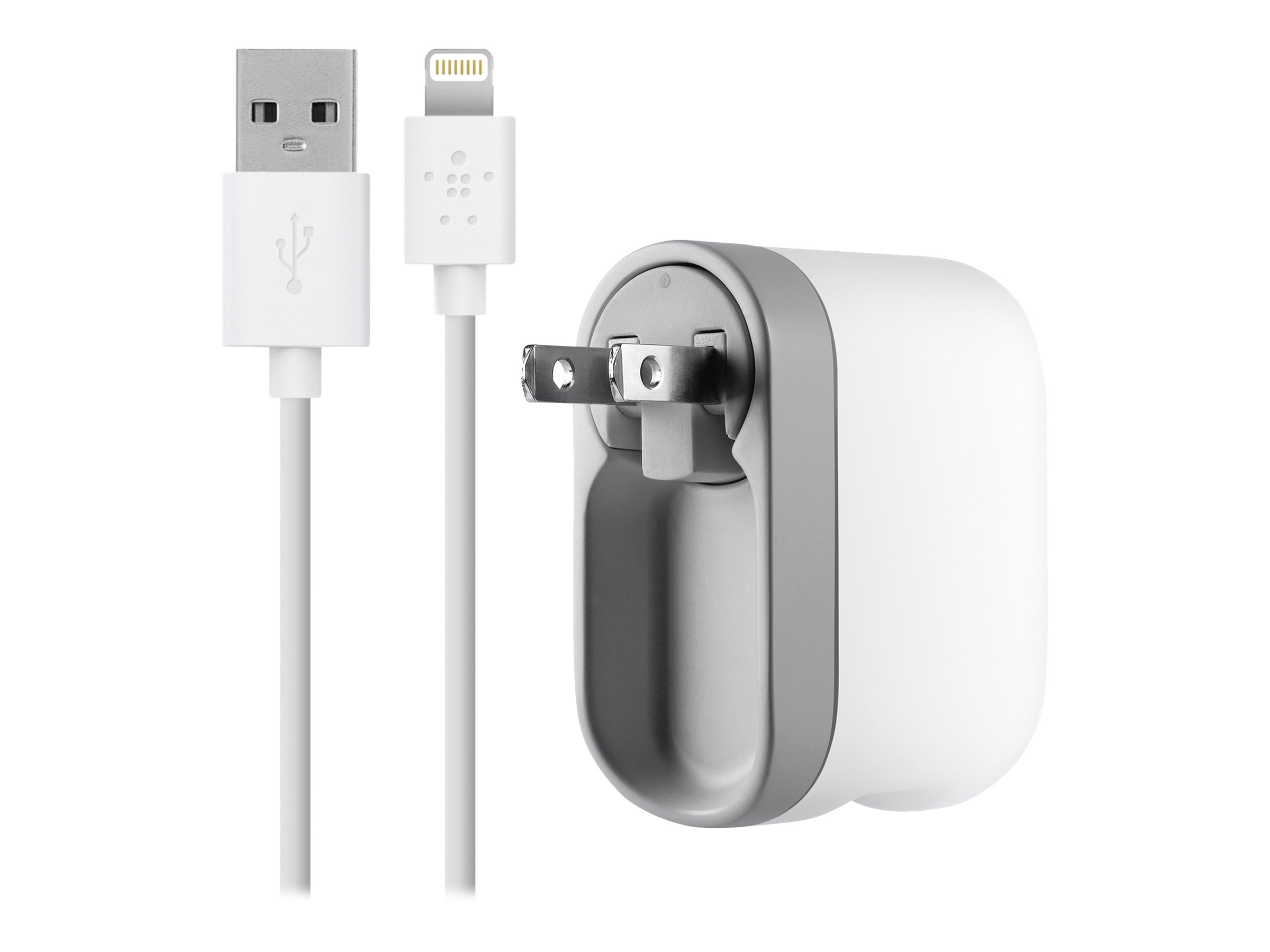 Belkin Swivel Charger + Lightning Charge Sync Cable 2.1A, White, F8J032TT04-WHT