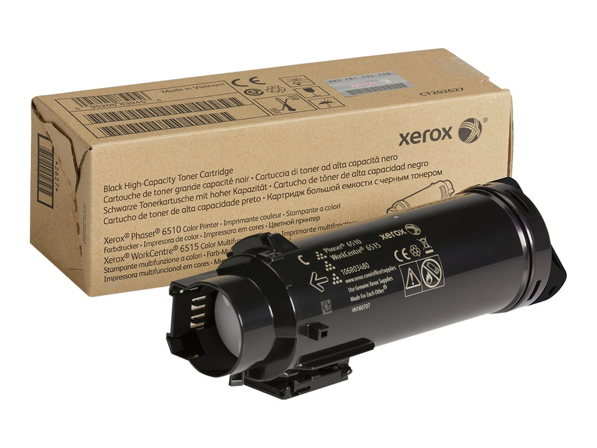 Xerox Black High Capacity Toner Cartridge for Phaser 6510 & WorkCentre 6515 Series, 106R03480