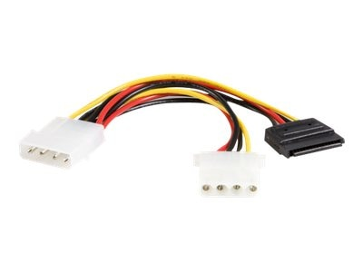 StarTech.com LP4 to LP4 SATA Power Y Cable Adapter, 6in, PYO1LP4SATA, 9205731, Adapters & Port Converters