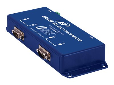 Quatech Isolated USB to 2-Port RS-232 Converter, USO9ML2-2P