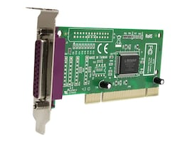StarTech.com 1-Port Low Profile Parallel PCI Card Adapter IEEE 1284, Plug & Play, PCI1P_LP, 220143, Controller Cards & I/O Boards