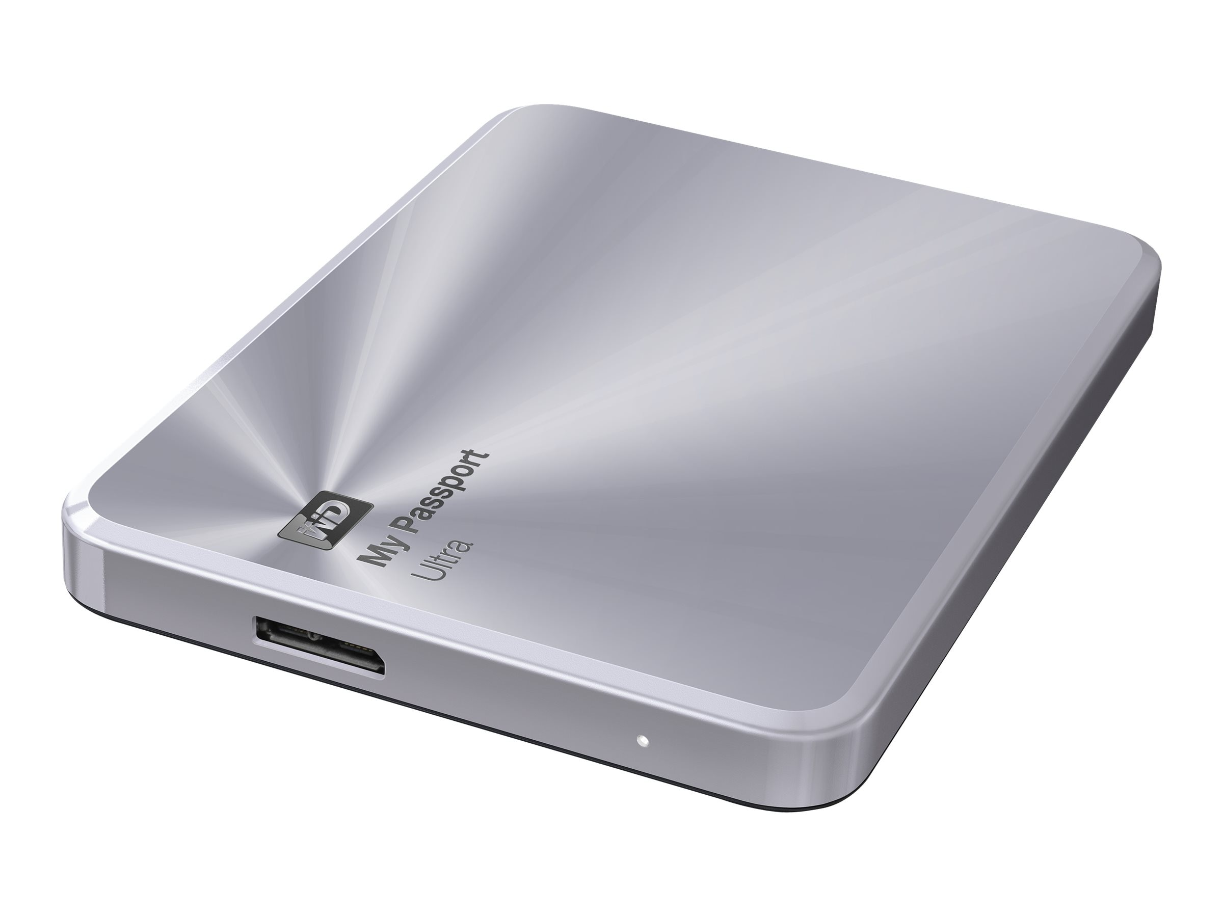 WD 2TB My Passport Ultra Metal Edition USB 3.0 Portable Hard Drive - Silver, WDBEZW0020BSL-NESN