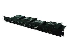 Transition 19-in Rack Mount Tray F 4XMedia Converters, RMS19-SA4-01-B, 16065407, Network Transceivers