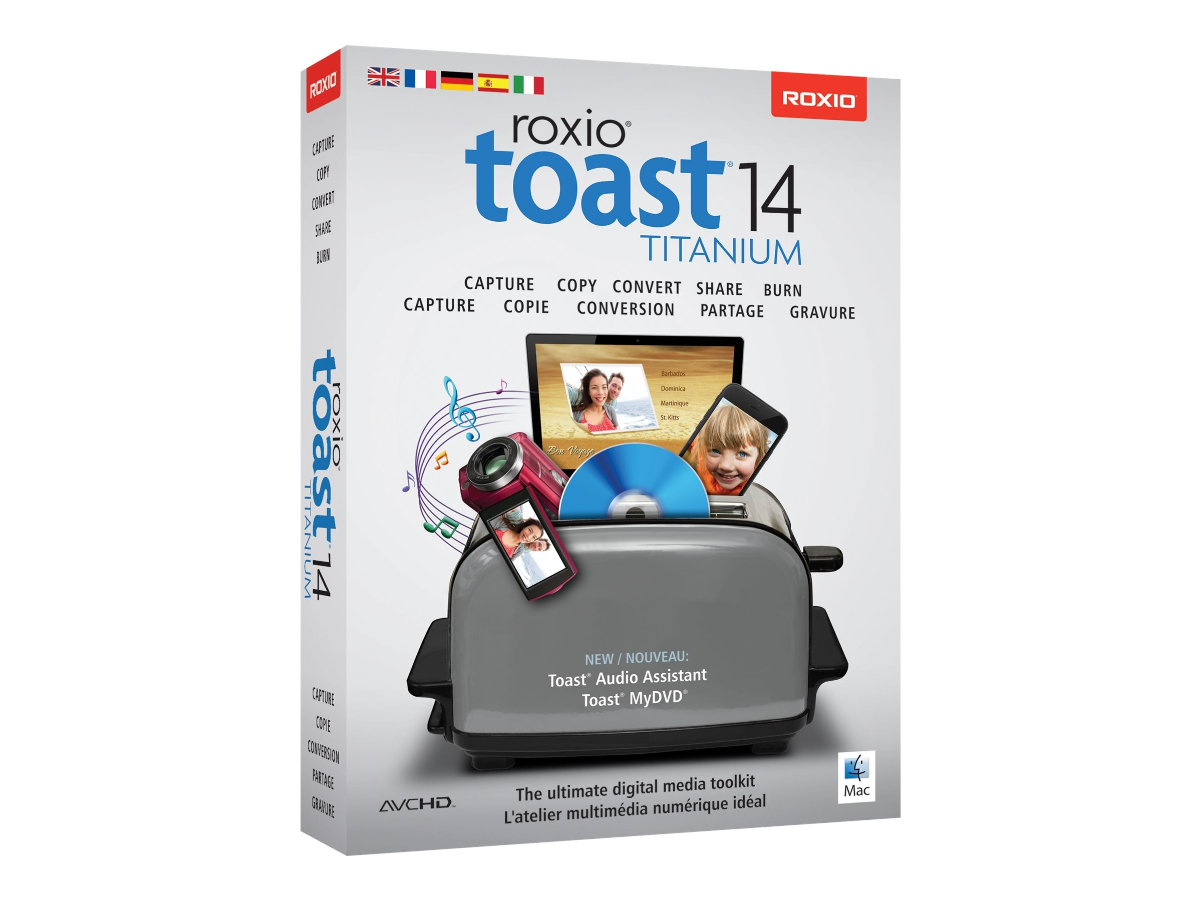 Corel Roxio Toast Titanium 14 ML, RTOT14MLMBAM, 23839589, Software - Digital Conversion