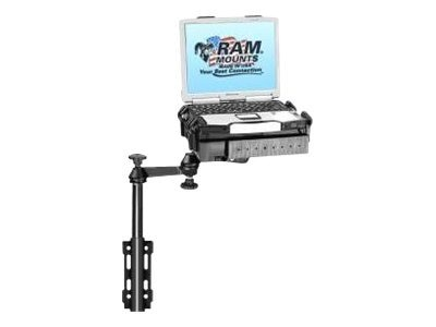 Ram Mounts Universal Flat Surface Vertical Drill-Down Vehicle Laptop Mount Stand