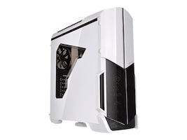 Thermaltake Chassis, Versa N21 Snow Edition Mid Tower ATX 4x3.5 Bays 1x5.25 Bay 7xSlots Window, White, CA-1D9-00M6WN-00, 31239209, Cases - Systems/Servers