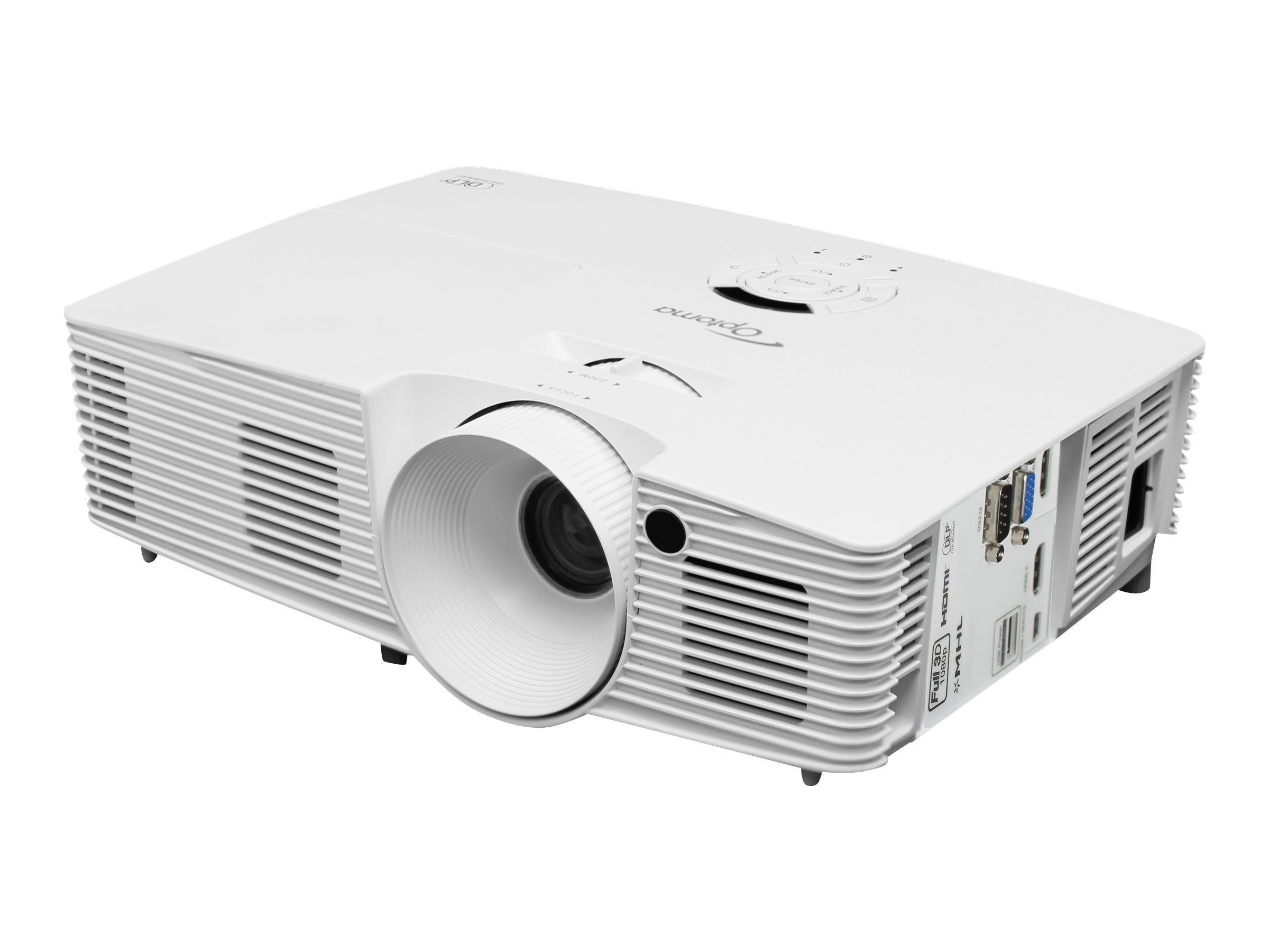 Optoma DH1012 Full HD 3D Projector, 3200 Lumens, White