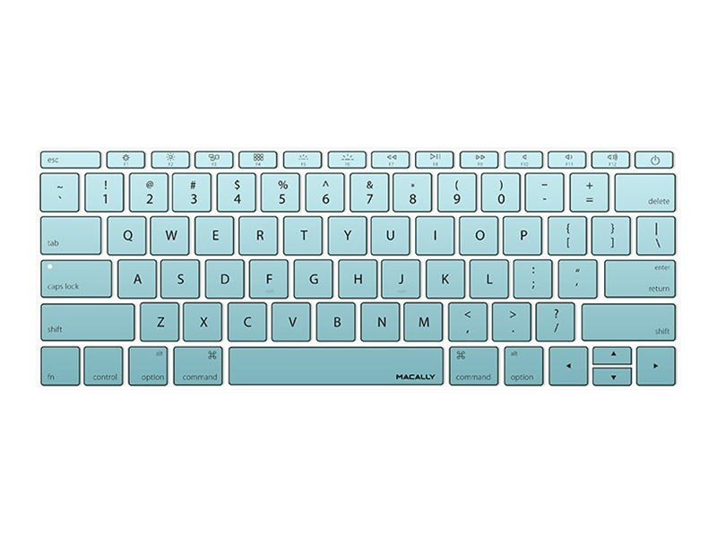 Macally Keyboard Cover, Teal, KBGUARDMBTLG, 26135288, Protective & Dust Covers