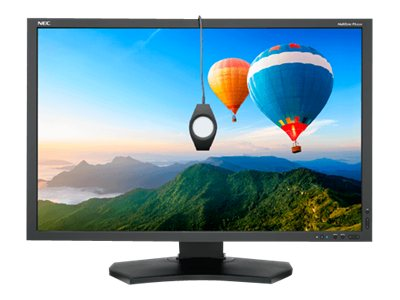 NEC 29.8 PA302W-BK LED-LCD Monitor, Black with Color Calibration Sensor and SpectraViewII, PA302W-BK-SV
