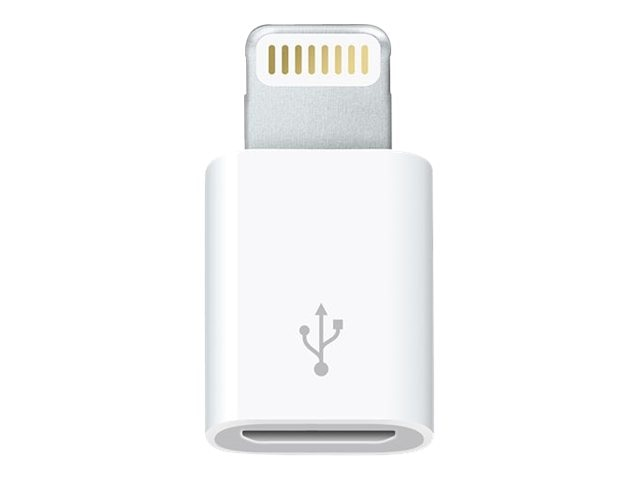 Apple Lightning to Micro USB Adapter, White, MD820AM/A, 23203038, Adapters & Port Converters
