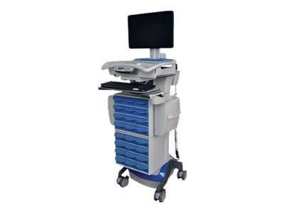 Rubbermaid DRX LCD Lift Cart, AC150, 55Amp, 1794565, 12818109, Computer Carts - Medical