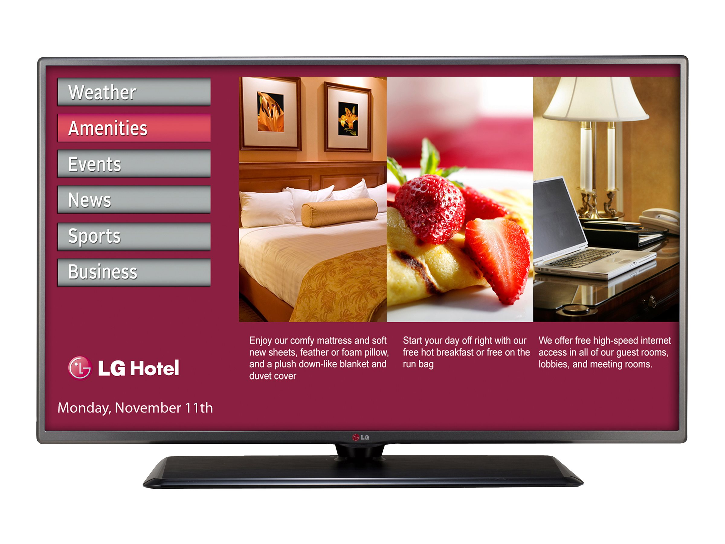 LG 54.6 LY760H Full HD LED-LCD Hospitality TV, Black, 55LY760H, 18770388, Televisions - LED-LCD Commercial