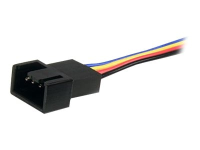 StarTech.com 4-Pin Fan Power Splitter Cable, 12in, FAN4SPLIT12