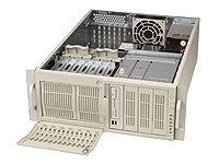 Supermicro Chassis, 4U, IDE, 7HDD Bays, No CD FDD, 600W PS, Black, CSE-742I-600B, 4933115, Cases - Systems/Servers