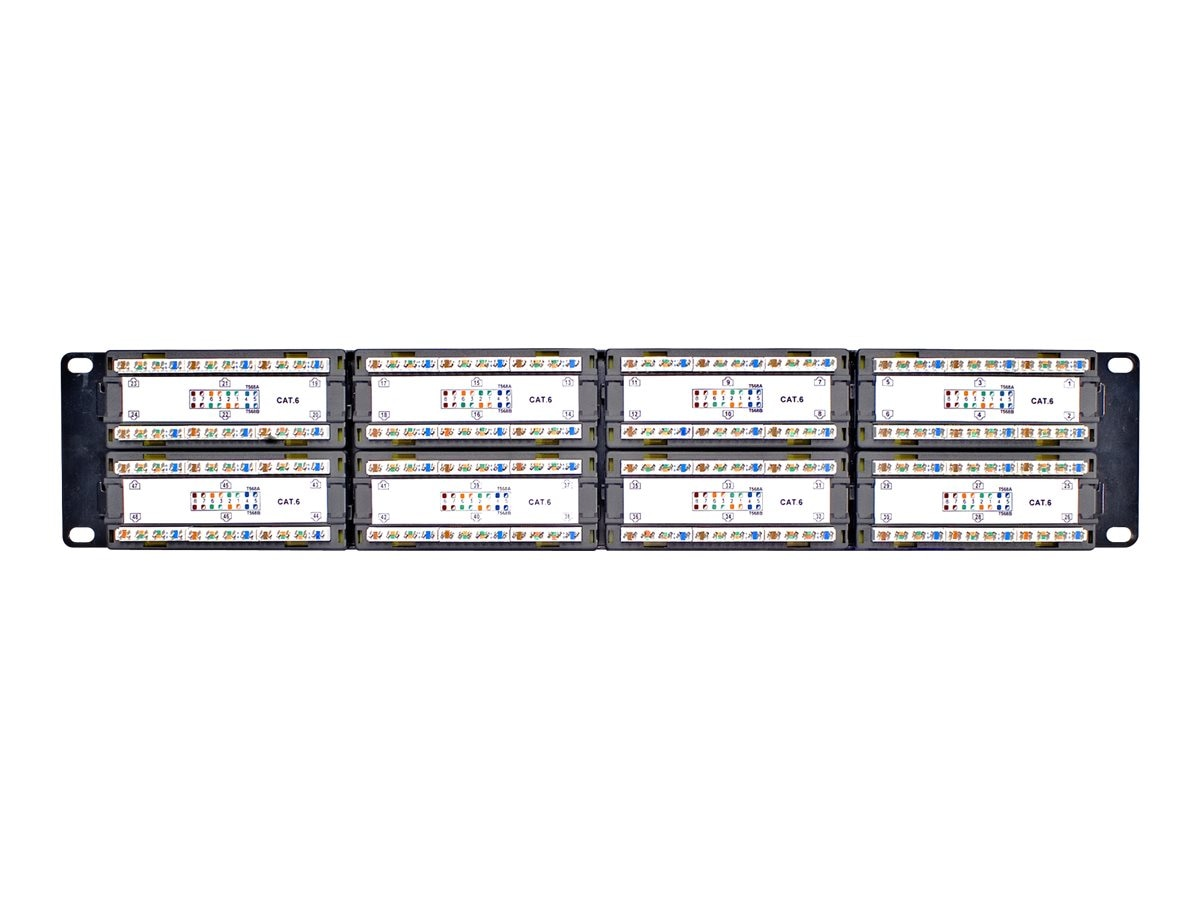 Belkin Cat6 Modular Patch Panel, 568AB, 48-port, F4P638-48-AB5
