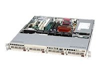 Supermicro Chassis, 1U Rackmount, 4 Bays SAS SATA, Dual Xeon, 410W PS, Black, CSE-813MT-410CB, 7044153, Cases - Systems/Servers