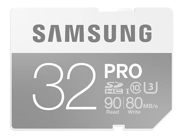Samsung 32GB Pro SDHC U3 Flash Memory Card, Class 10, MB-SG32E/AM