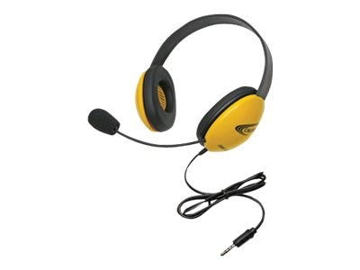 Stereo Headphones w  To Go 3.5mm Plug via ErgoGuys - Yellow, 2800-YLT, 17585025, Headsets (w/ microphone)