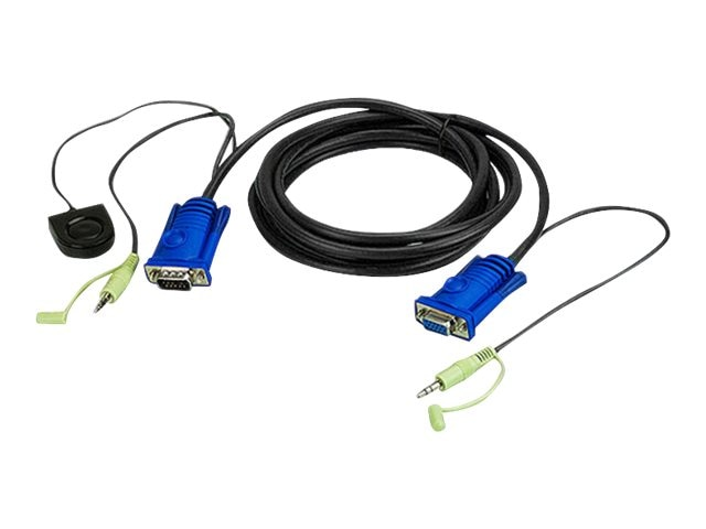 Aten VGA and 3.5mm audio with Switching Button Cable, 6ft
