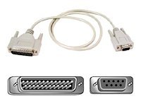 Belkin Pro Series Modem Cable AT Serial (DB9F to DB25M), 1ft, F2L088-01, 133845, Adapters & Port Converters