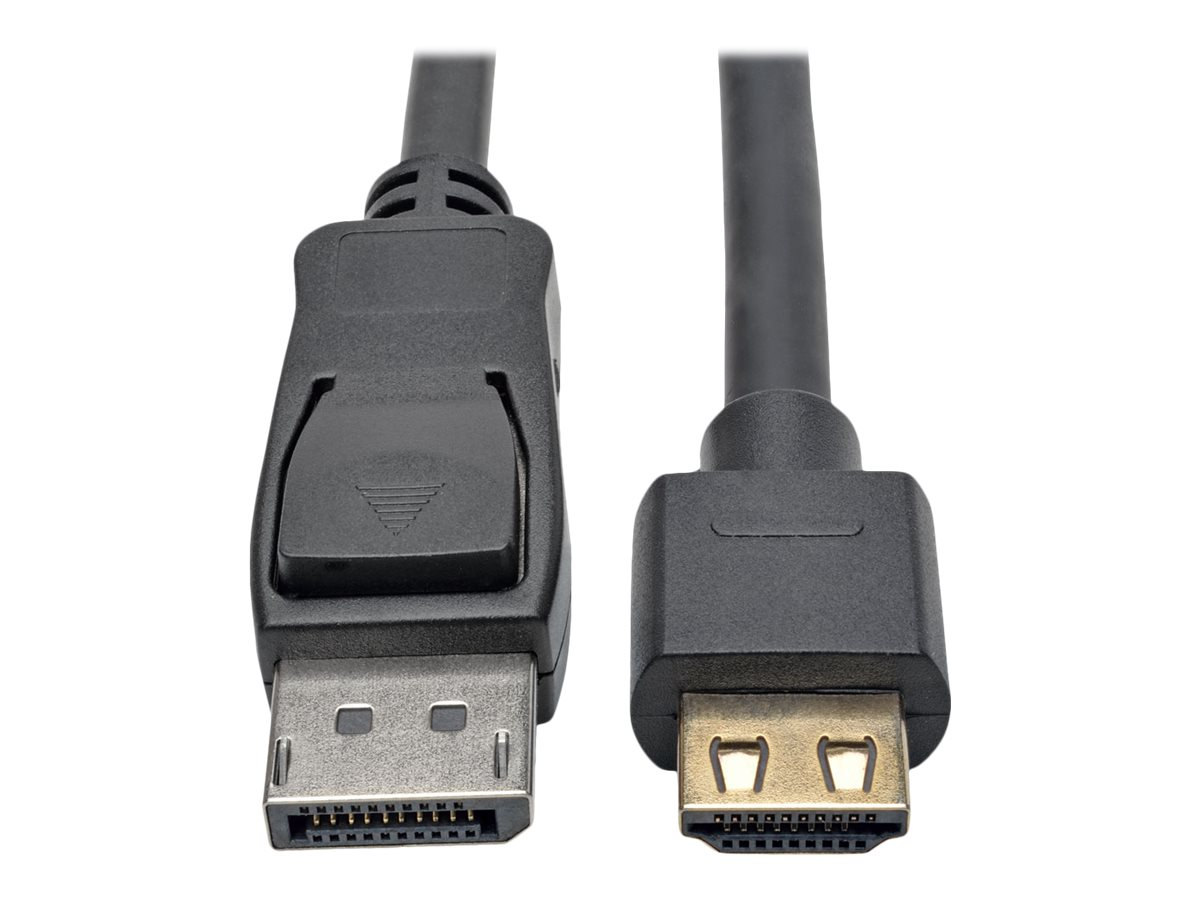 Tripp Lite DisplayPort 1.2a to HDMI M M 4Kx2K @ 60Hz Active Adapter Cable with Gripping HDMI Plug, Black, 20ft