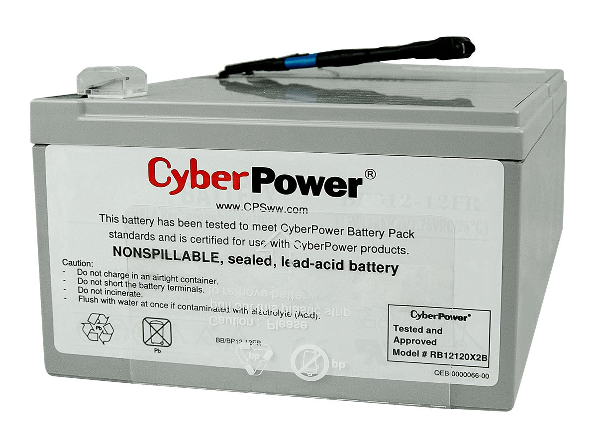 CyberPower Replacement Battery Cartridge, 12V 12Ah for PR1000LCD UPS