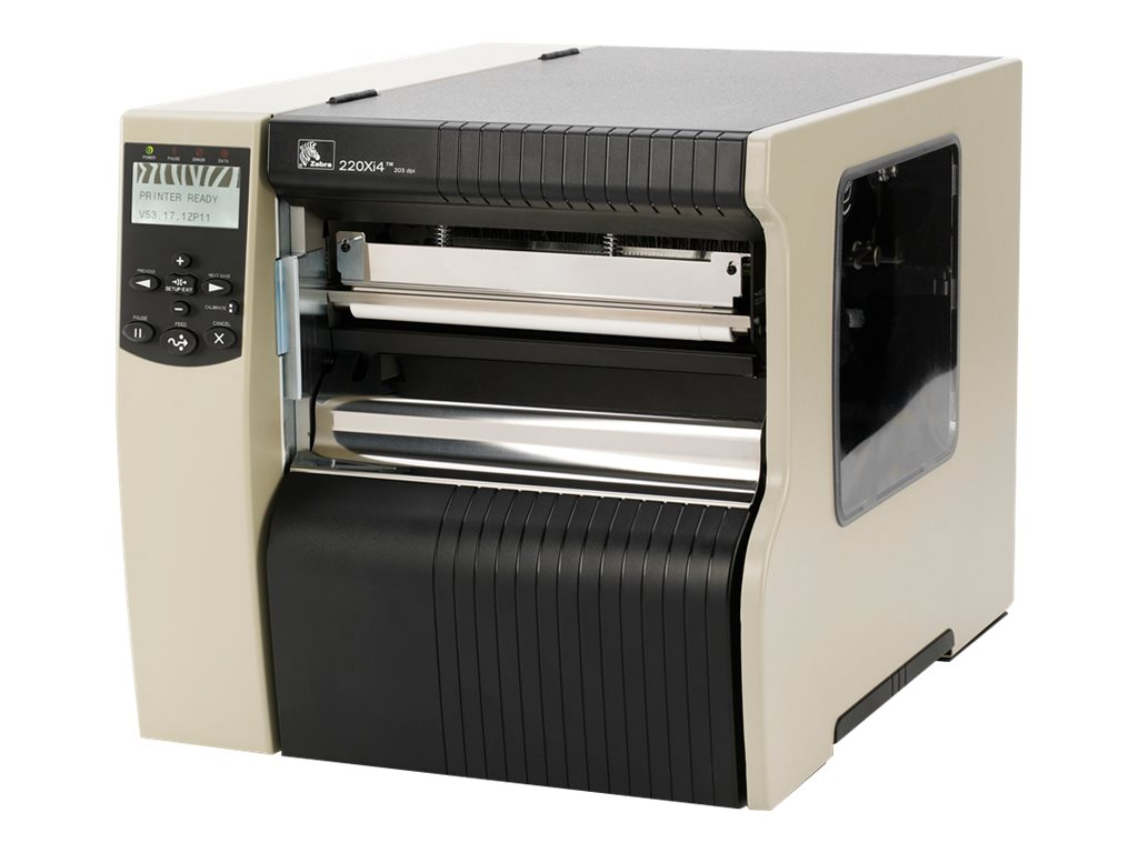 Zebra 220Xi4 8 DT TT Tabletop 203dpi RS-232 Serial Parallel Printer, 220-801-00200, 15003669, Printers - Bar Code