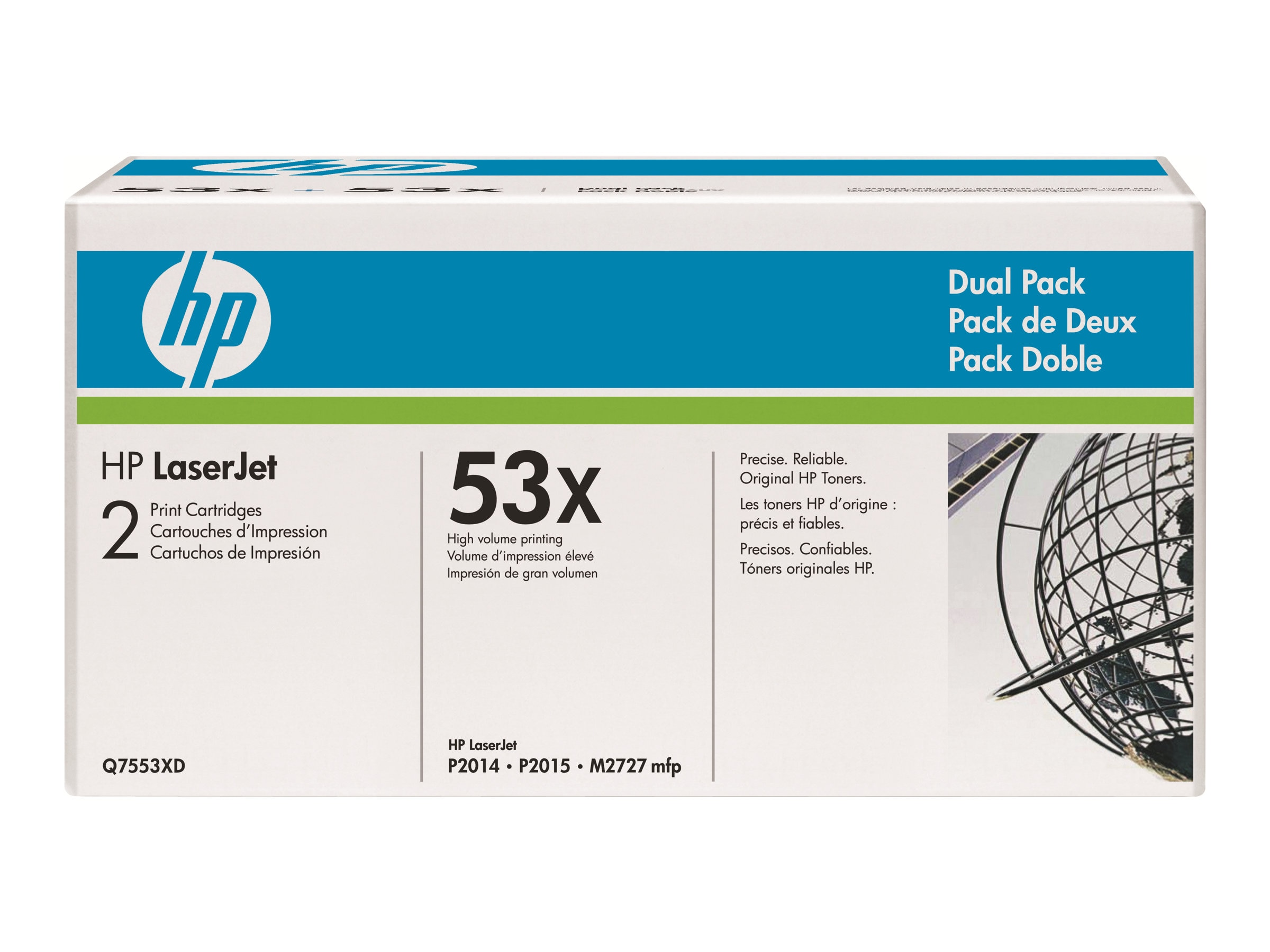 HP 53X (Q7553X) High Yield Black Original LaserJet Toner Cartridge for HP LaserJet P2015 Printers