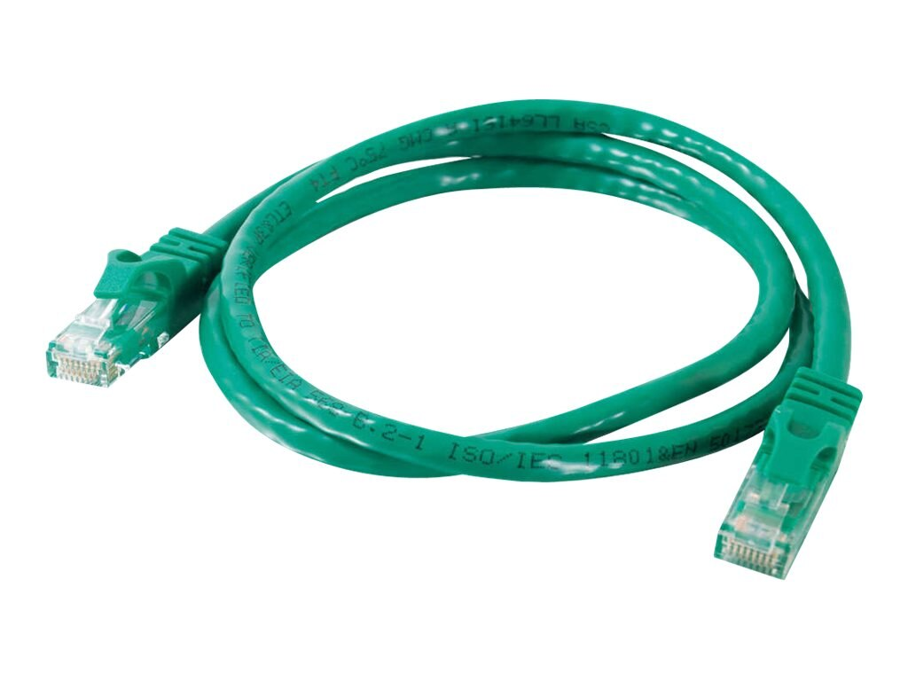 C2G Cat6 Snagless Unshielded (UTP) Network Patch Cable, Green, 10ft, 27173, 5852561, Cables