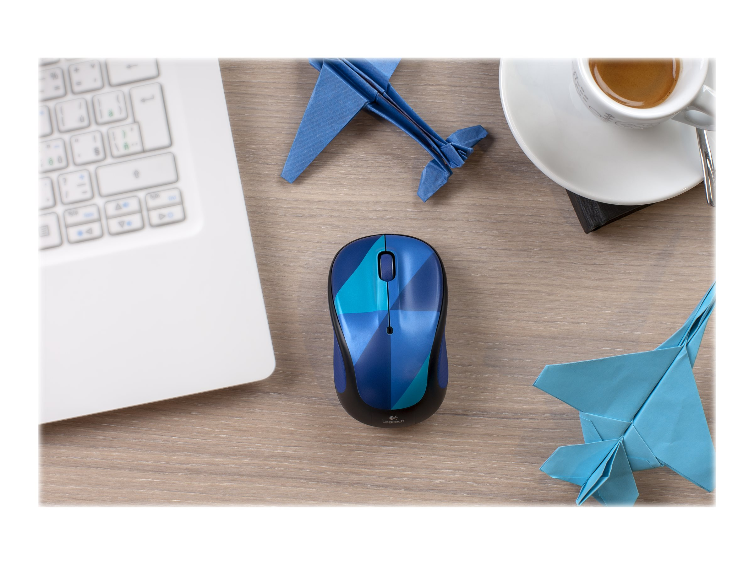 Logitech M325c Wireless Optical Mouse, Blue Harlequin, 910-004459, 22900894, Mice & Cursor Control Devices