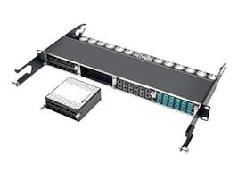 Tripp Lite 12-Port SFP+ 10Gbe Pass Through Cassette w 6xQSFP+ to 4xSFP+Cables, N484-12SFP-K, 32183518, Network Device Modules & Accessories