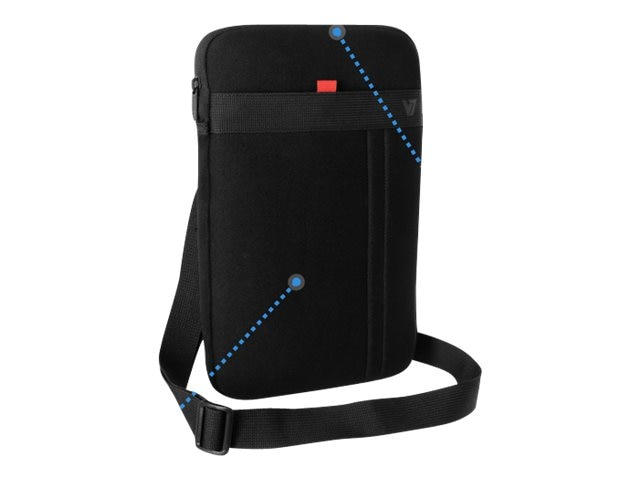 V7 Protective Sleeve w  Removable Strap for Ultrabooks Tablets Up to 12, CSS12BLK-1N