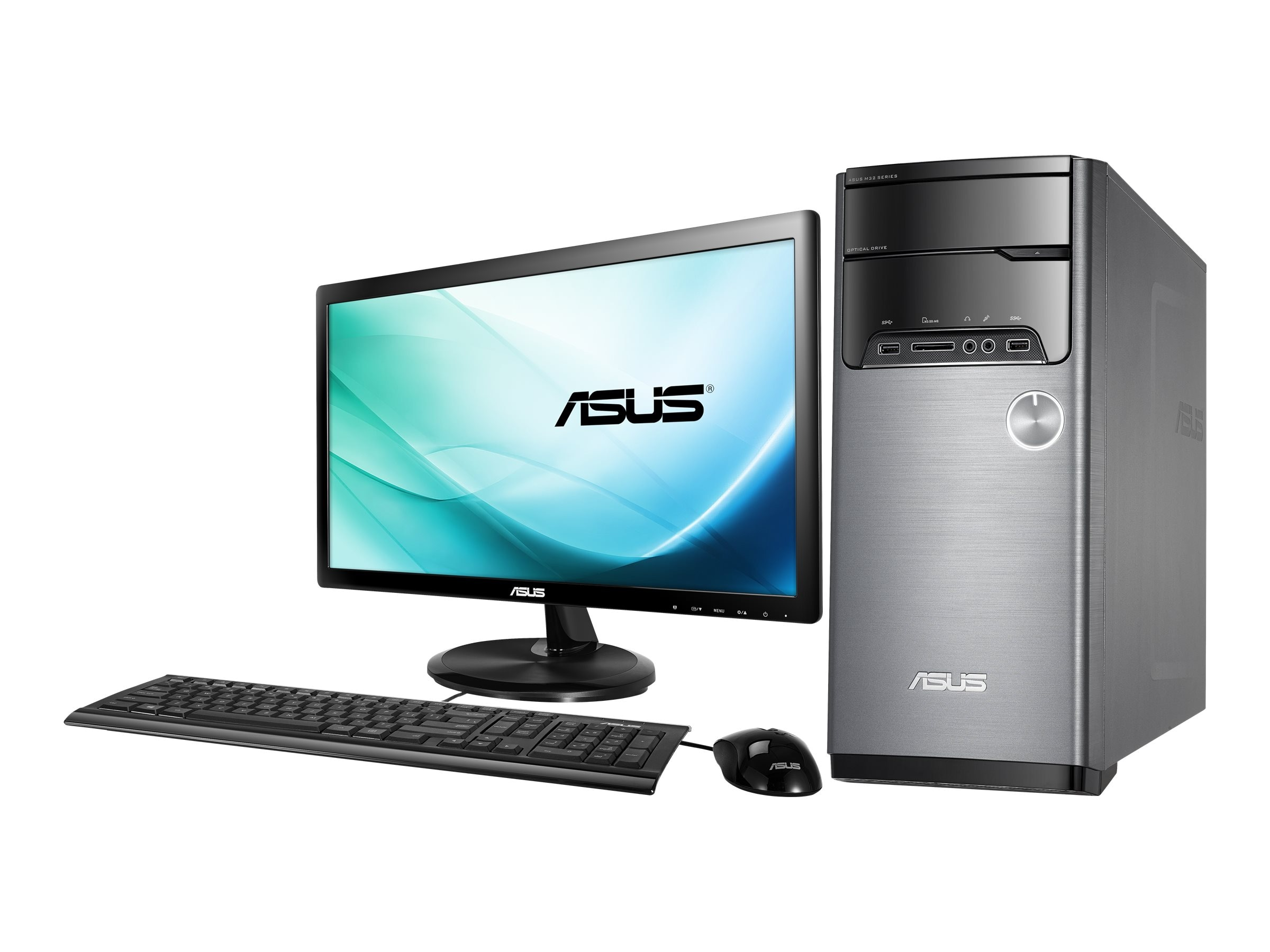 Asus M32AD-US007T Desktop Core i5-4460 3.4GHz 8GB 1TB W1064, M32AD-US007T, 30790200, Desktops