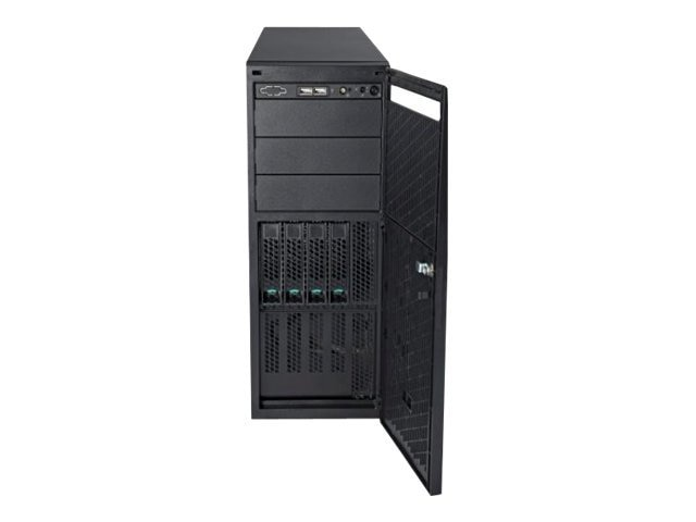 Intel P4304 4U Pedestal Server Chassis, (4) 3.5 HD Bays, 365W Power Supply