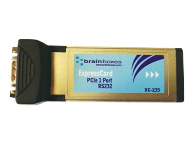 Brainboxes 1 Port RS232 PCIe ExpressCard Serial Adapter, XC-235