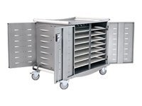 Ergotron 30 Unit Notebook Storage Cart, made with Anthro DNA, LTSC30WH/SM, 352788, Computer Carts