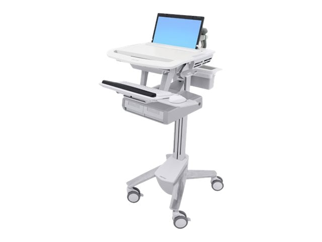 Ergotron StyleView Laptop Cart, 2 Drawers, SV43-11A0-0, 31498121, Computer Carts - Medical