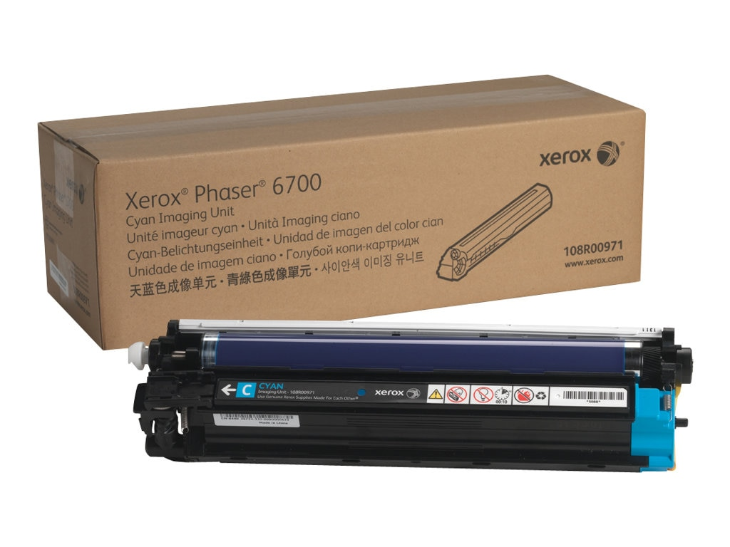 Xerox Cyan Imaging Unit for Phaser 6700 Series Printers, 108R00971, 16372423, Toner and Imaging Components