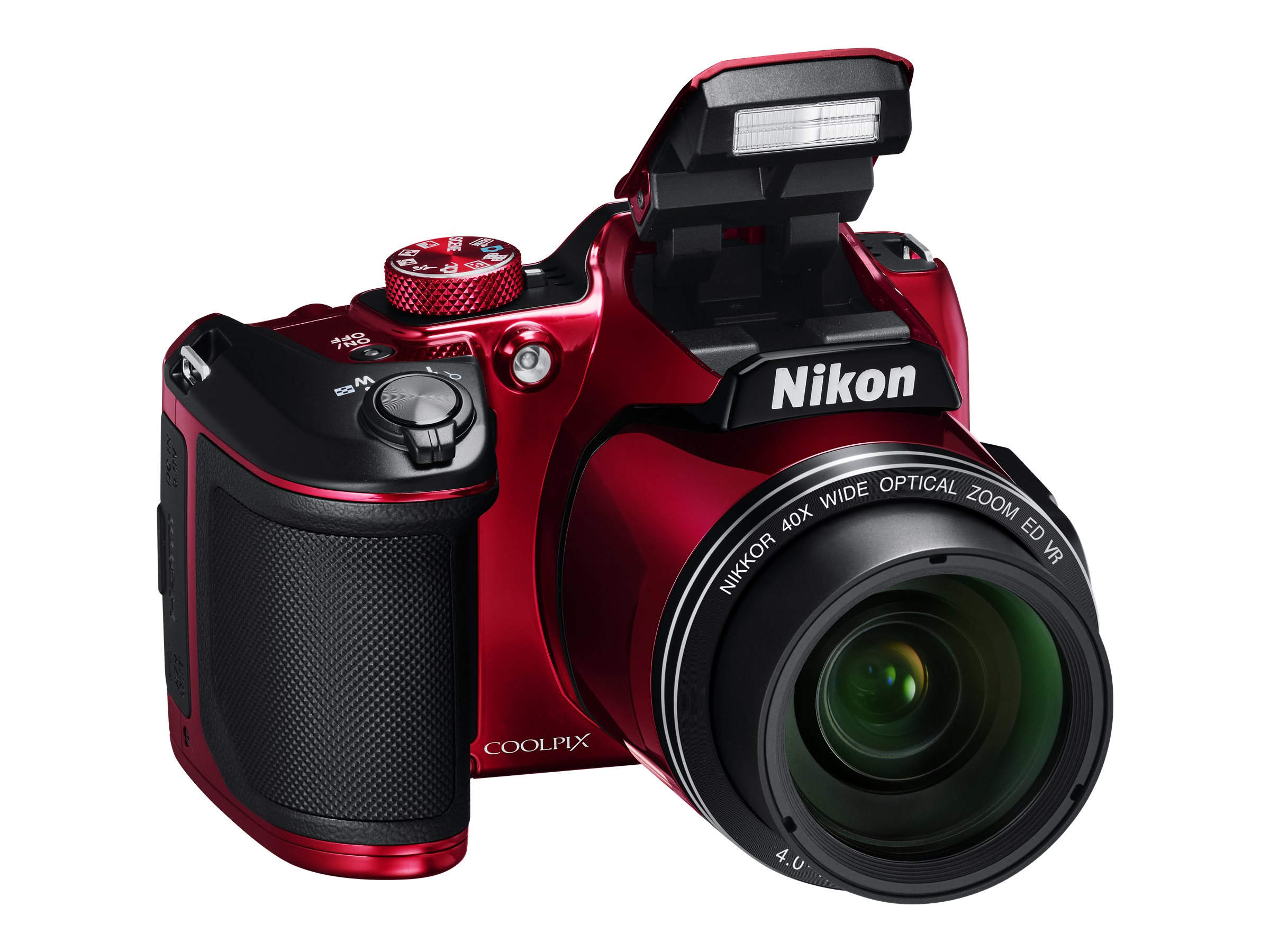 Nikon COOLPIX B500 Digital Camera, Red, 26508