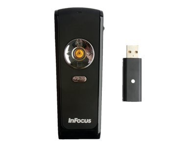 InFocus Presenter Remote with Laser Pointer and USB Receiver, HW-PRESENTER-2