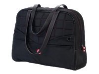 Mobile Edge Sumo Womens Laptop 13 Purse, Black with Pink Stitching, ME-SUMO99130, 10004515, Carrying Cases - Notebook