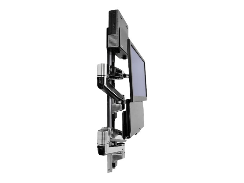 Ergotron Lx Sit Stand Wall Mount System With Small Black