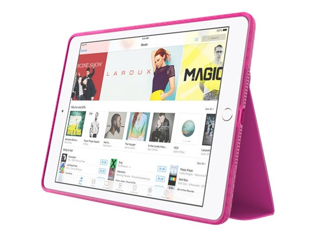 Incipio Octane Folio Co-Molded Impact Absorbing Folio for iPad Air 2, Frost Pink, IPD-352-NPNK, 31216111, Carrying Cases - Tablets & eReaders