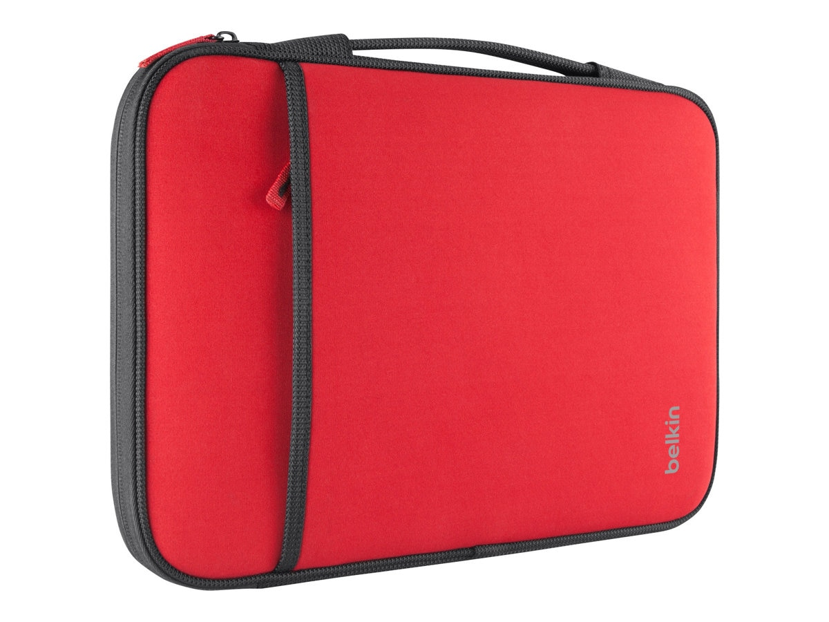 Belkin 11 Sleeve Chromebook, Ultrabook, Macbook Air, Red, B2B081-C02, 15755861, Carrying Cases - Notebook