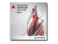 Autodesk Corp. AutoCAD for Mac 2015 Commercial New SLM ELD, 777G1-WWR115-1001-VC, 19286871, Software - CAD