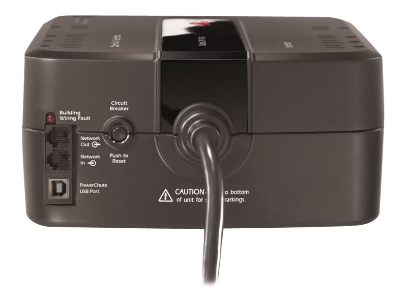 APC Back-UPS 650 650VA 390W 120V NEMA 5-15P Input 5ft Cord (8) 5-15R Outlets, Green edition, BE650G1